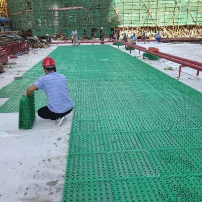 3公分绿色蓄排水板-工地铺设现场